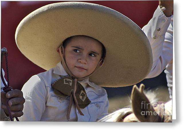 Suenos De Charro Greeting Card by Kristine Celorio