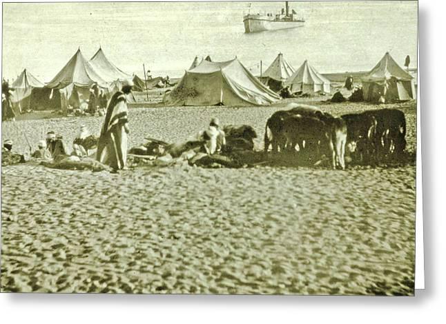 Suez Canal Inauguration Ismailia, Arab Camp At Lake Timsah Greeting Card by Artokoloro