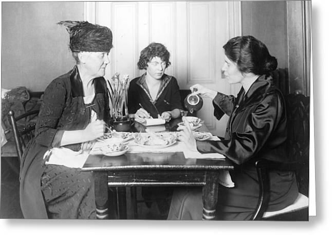 Suffragette Meeting Greeting Card