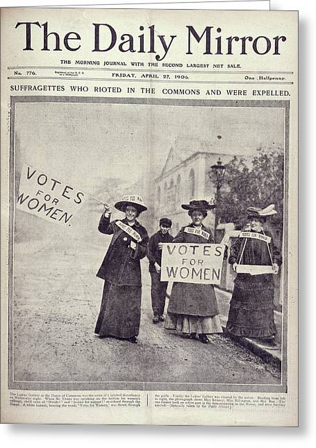 Suffragettes Greeting Card by British Library