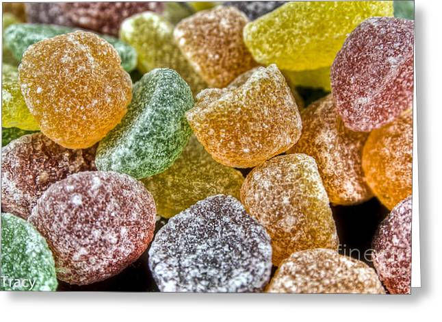 Sugar Candy Rush Greeting Card by Tracy  Hall