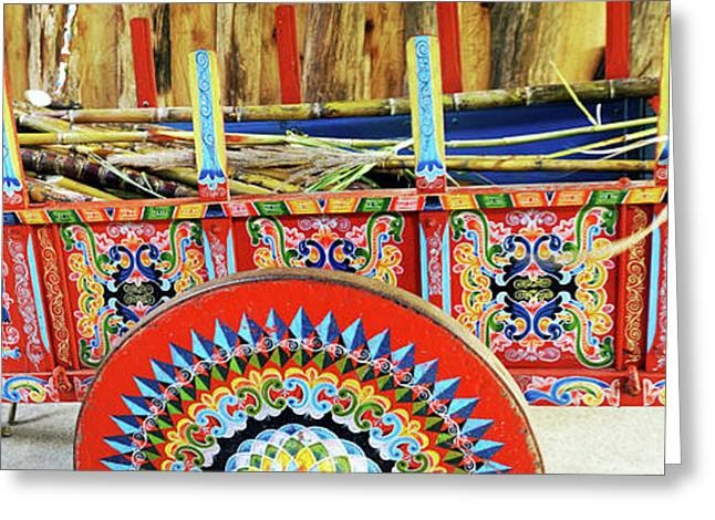 Sugar Canes In La Carreta The Oxcart Greeting Card by Panoramic Images