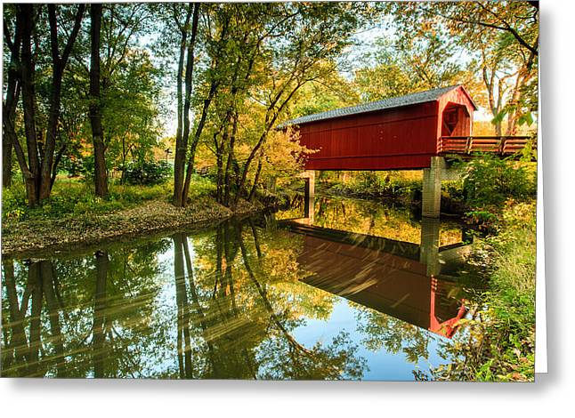 Sugar Creek Covered Bridge Greeting Card