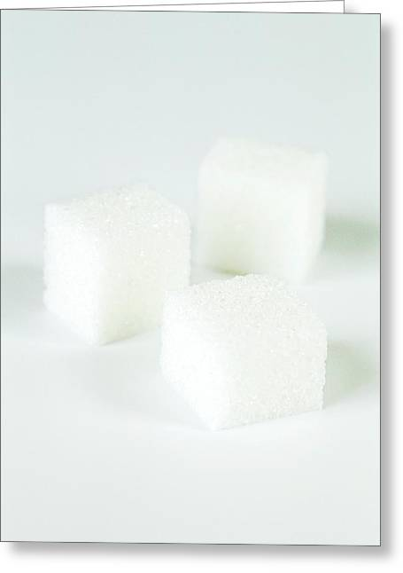 Sugar Cubes Greeting Card by Gustoimages/science Photo Library