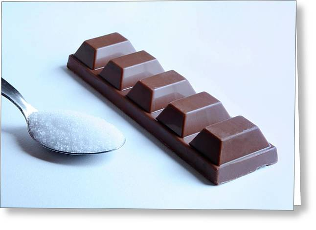 Sugar In Chocolate Greeting Card by Cordelia Molloy