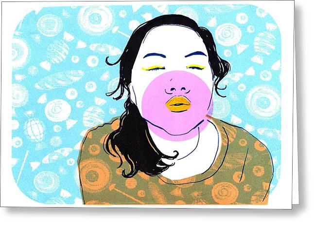 Sugar Lips Greeting Card by Vanessa Baladad