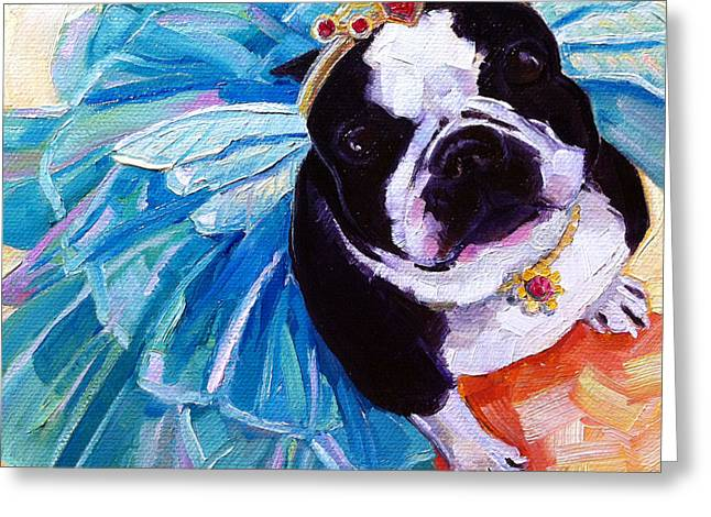 Sugar Plum Terrier Greeting Card by Kristy Tracy
