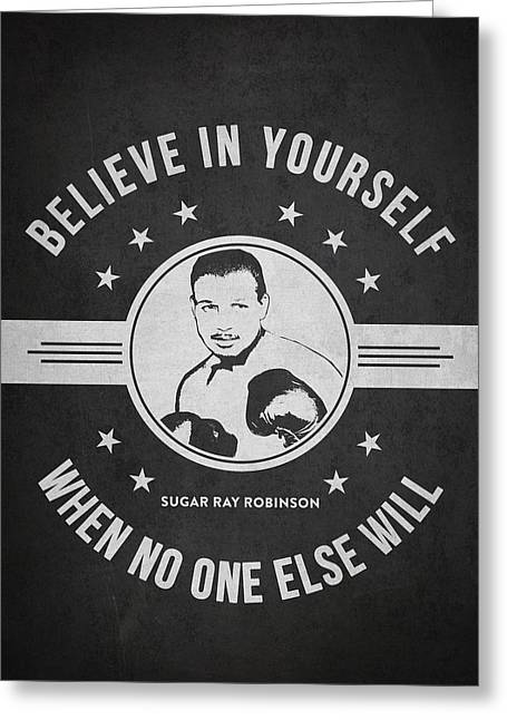 Sugar Ray Robinson - Dark Greeting Card