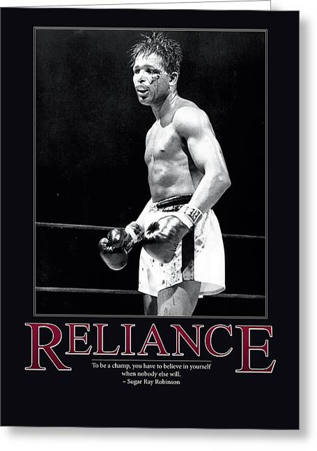 Sugar Ray Robinson Reliance Greeting Card by Retro Images Archive