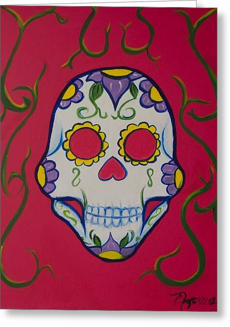 Sugar Skull Greeting Card by Beatriz Topete