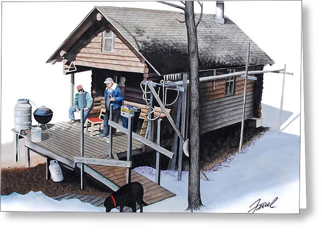 Sugarbush Cabin Greeting Card