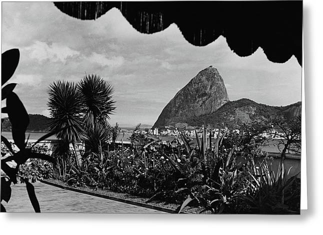 Sugarloaf Mountain Seen From The Patio At Carlos Greeting Card