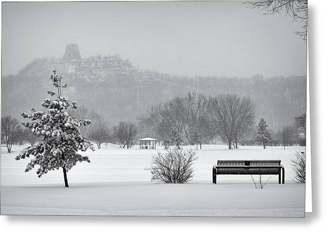 Sugarloaf Snowstorm Greeting Card