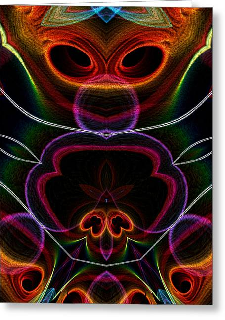 Greeting Card featuring the digital art Suile Ciallmhar by Owlspook