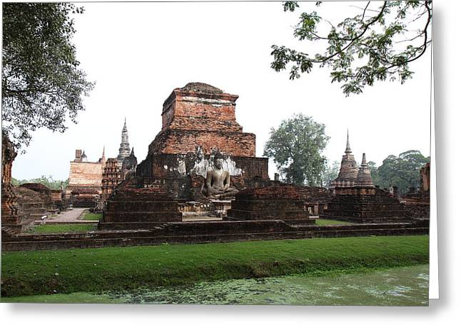 Sukhothai Historical Park - Sukhothai Thailand - 01131 Greeting Card by DC Photographer
