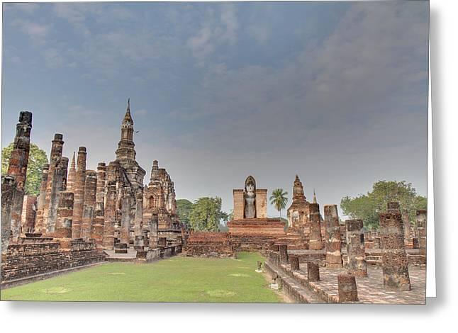 Sukhothai Historical Park - Sukhothai Thailand - 011329 Greeting Card by DC Photographer