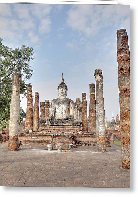 Sukhothai Historical Park - Sukhothai Thailand - 011331 Greeting Card by DC Photographer