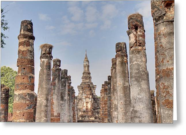 Sukhothai Historical Park - Sukhothai Thailand - 011336 Greeting Card by DC Photographer