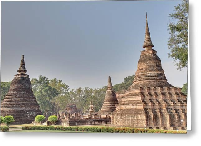 Sukhothai Historical Park - Sukhothai Thailand - 011339 Greeting Card by DC Photographer