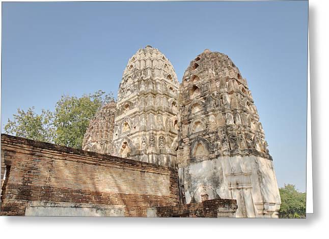 Sukhothai Historical Park - Sukhothai Thailand - 011355 Greeting Card by DC Photographer