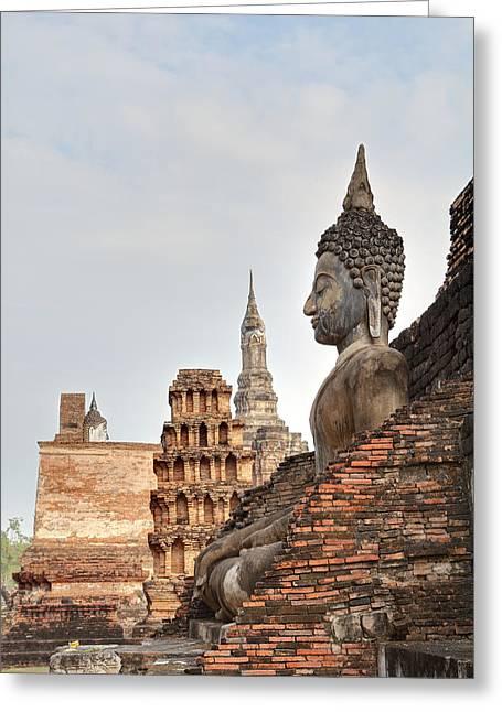 Sukhothai Historical Park - Sukhothai Thailand - 01136 Greeting Card