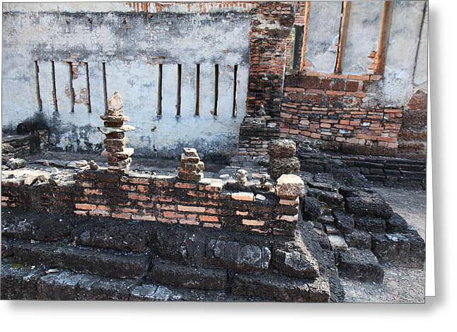 Sukhothai Historical Park - Sukhothai Thailand - 011361 Greeting Card