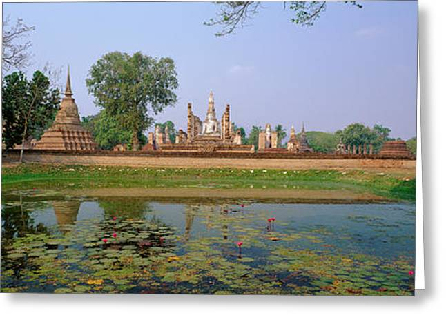 Sukhothai Thailand Greeting Card by Panoramic Images