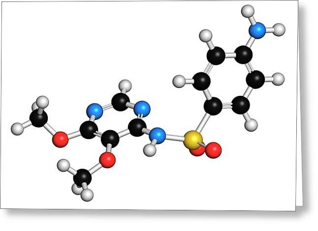 Sulfadoxine Malaria Drug Molecule Greeting Card
