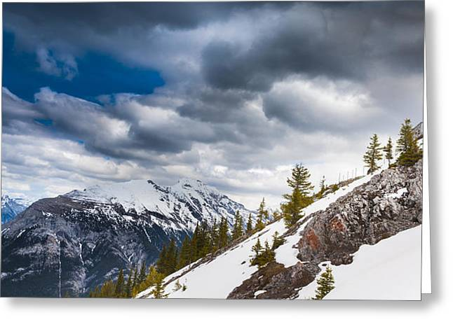 Sulphur Mountain Up High Greeting Card by Chris Halford