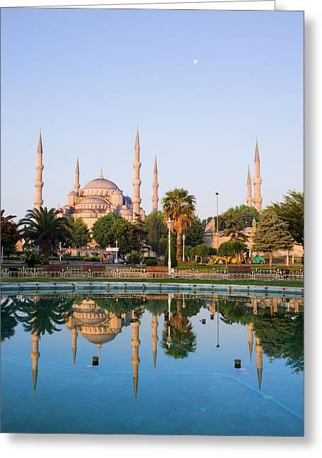 Sultan Ahmet Camii In Istanbul Greeting Card by Artur Bogacki