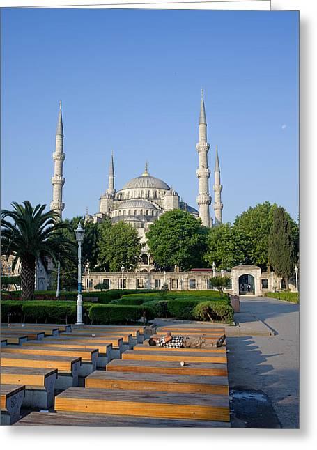 Sultan Ahmet Mosque In Istanbul Greeting Card by Artur Bogacki