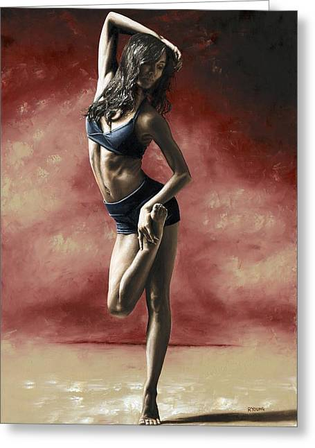 Sultry Dancer Greeting Card by Richard Young