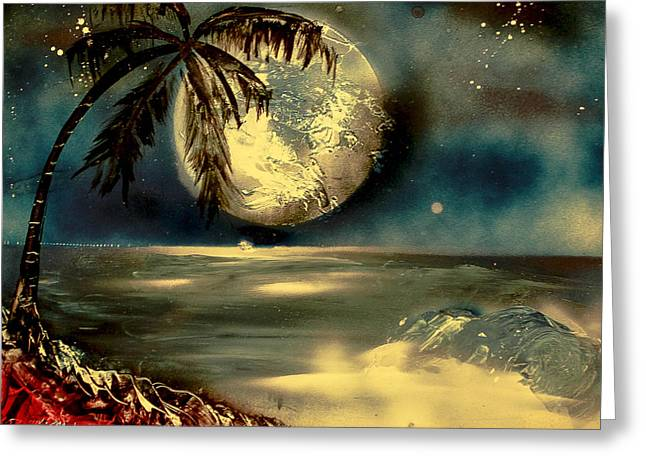 Sultry Moonlight Greeting Card by Rochelle Midro