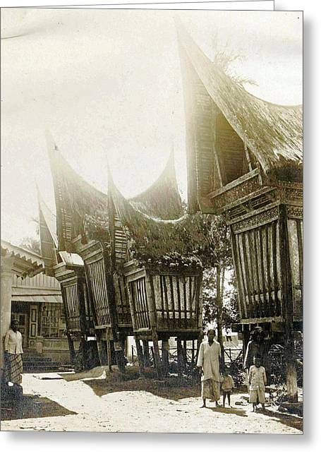 Sumatra Indonesia, Pastry Sheds, Anonymous Greeting Card