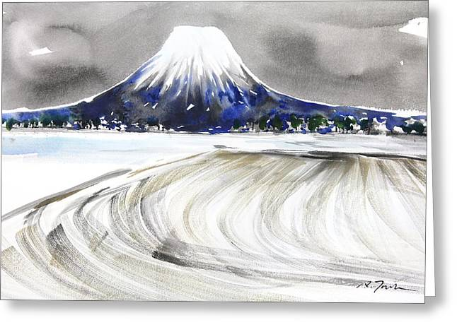 Sumie No.17 Mt.youtei In Hokkaido Japan Greeting Card by Sumiyo Toribe