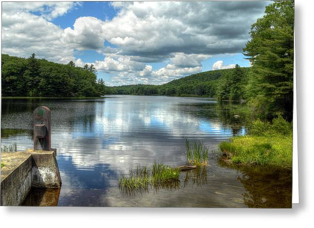 Summer Afternoon At The Spillway Greeting Card