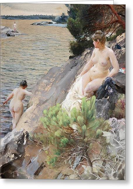 Summer Greeting Card by Anders Zorn