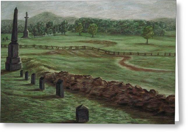Summer At Cemetary Ridge Gettysburg Greeting Card by Joann Renner