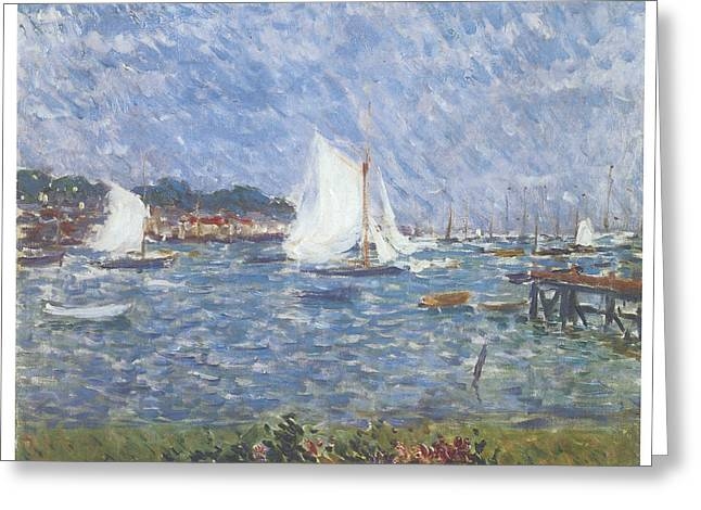 Summer At Cowes Greeting Card by Philip Wilson Steer