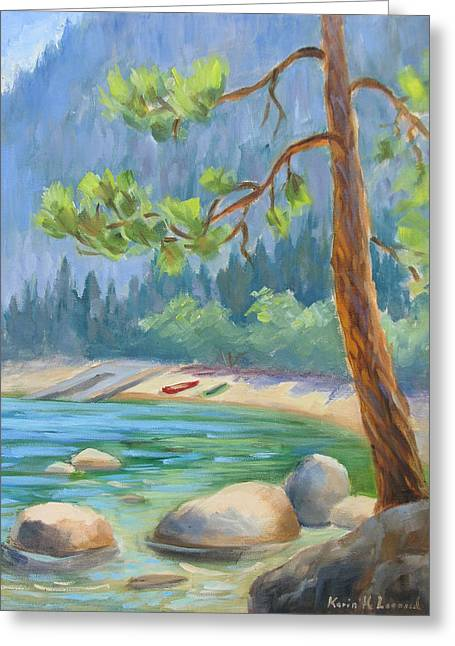 Summer At Lake Tahoe Greeting Card by Karin  Leonard