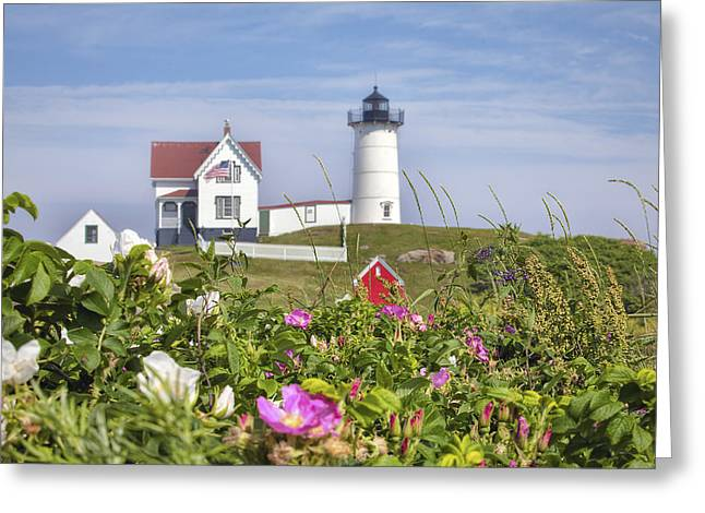 Summer At Nubble Light Greeting Card