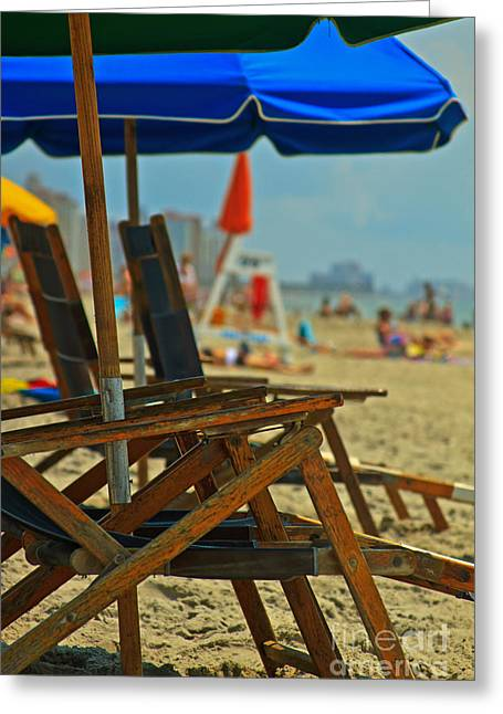 Summer At The Beach Greeting Card