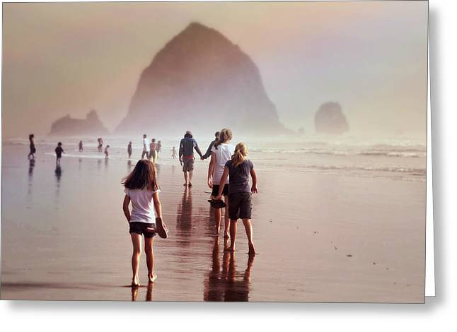 Greeting Card featuring the photograph Summer At The Seashore  by Micki Findlay