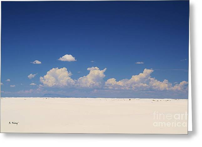 Summer At White Sands National Monument Greeting Card by Roena King