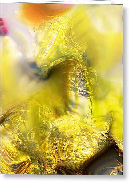 Greeting Card featuring the digital art Summer Barley by Richard Thomas