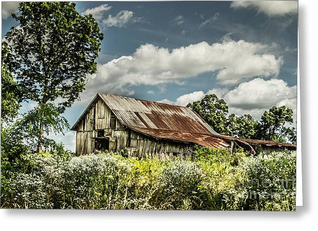 Greeting Card featuring the photograph Summer Barn by Debbie Green