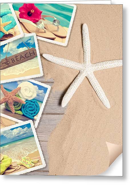 Summer Beach Postcards Greeting Card