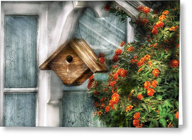 Summer - Birdhouse - The Birdhouse Greeting Card by Mike Savad