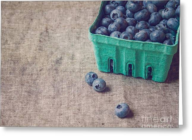 Summer Blueberries Greeting Card by Bethany Helzer