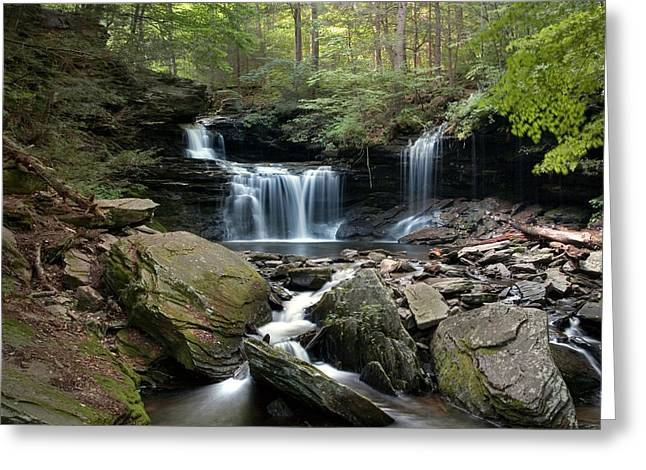 Summer Breeze At R B Ricketts Falls Greeting Card
